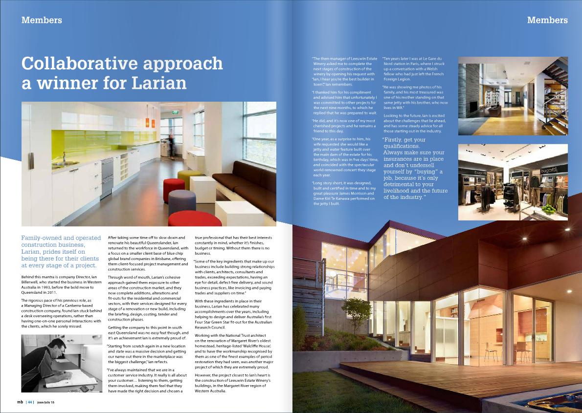 MBA magazine article